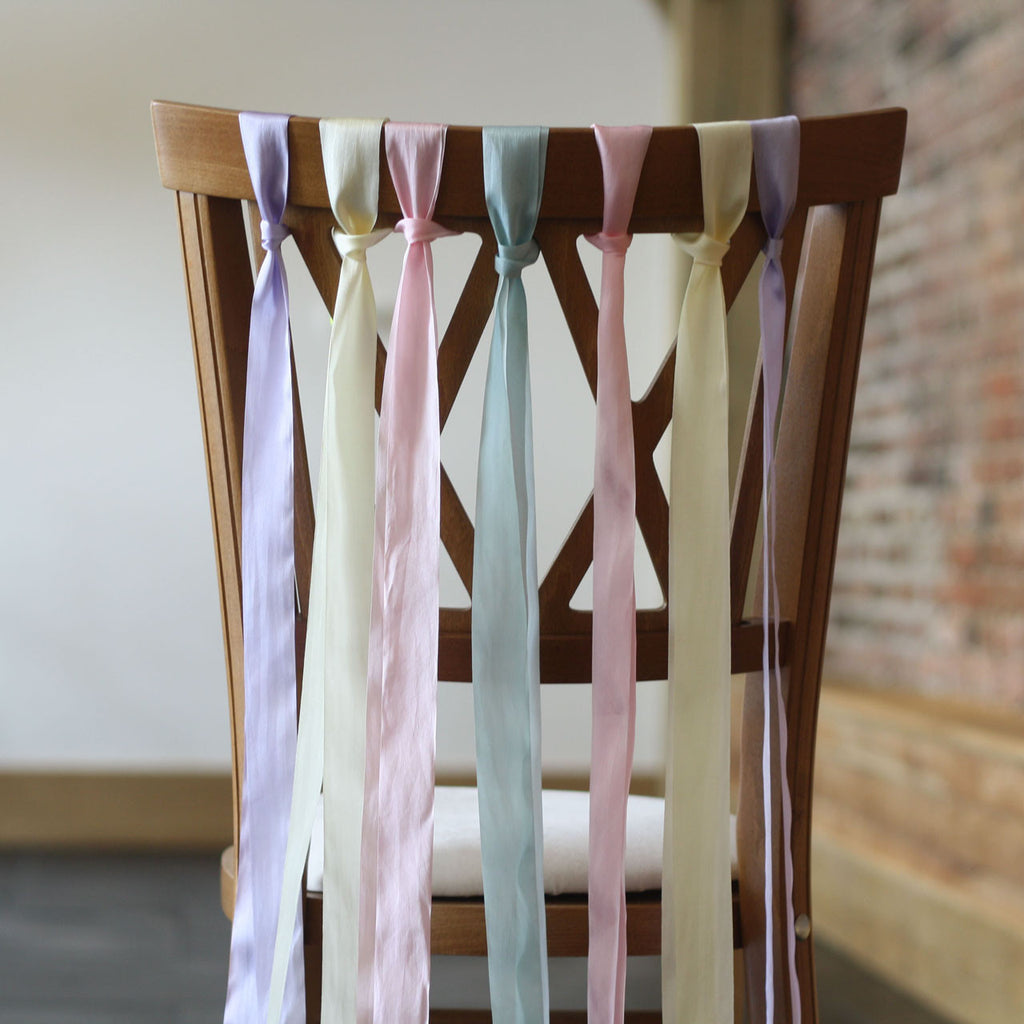 ribbon wedding chair backs