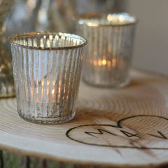 mercury silver tea light holders wedding