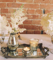 mercury silver wedding table decorations