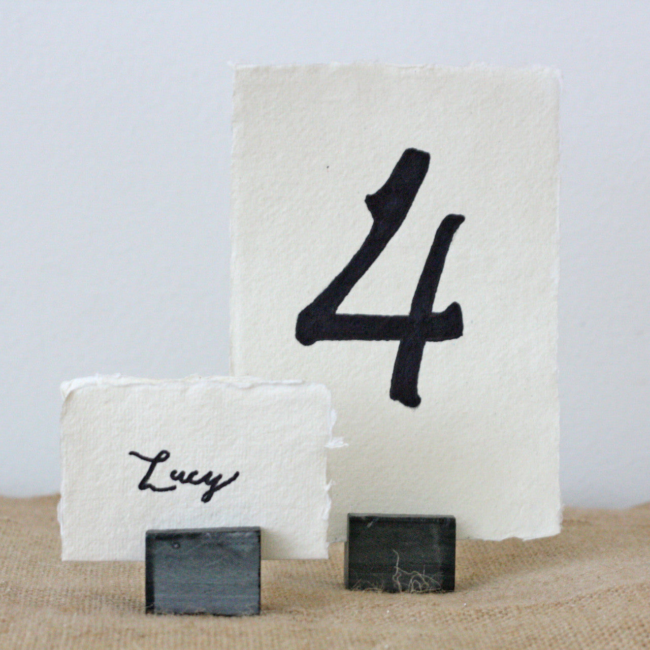 table number card holders. slate name card table number holders \u2013 set of 4