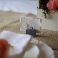 slate name card holders for weddings - available from @theweddingomd