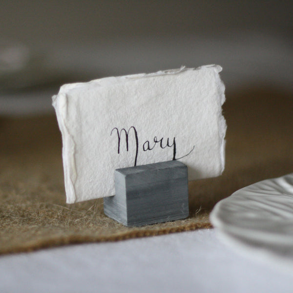slate name card table number holders