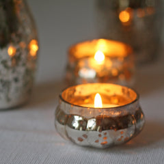 elegant silver tea light holders