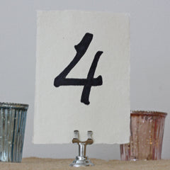 Small Silver Table Number Holders – Set of 4