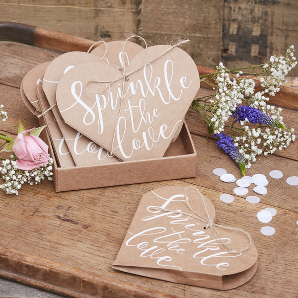 Sprinkle The Love Confetti Heart Cones (12 Pack)
