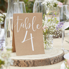 Rustic Chic Wedding Table Numbers 1 - 12  The Wedding of my Dreams