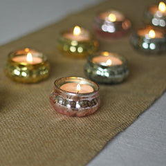 Mini Mercury Gold Floating Tea Light Holders