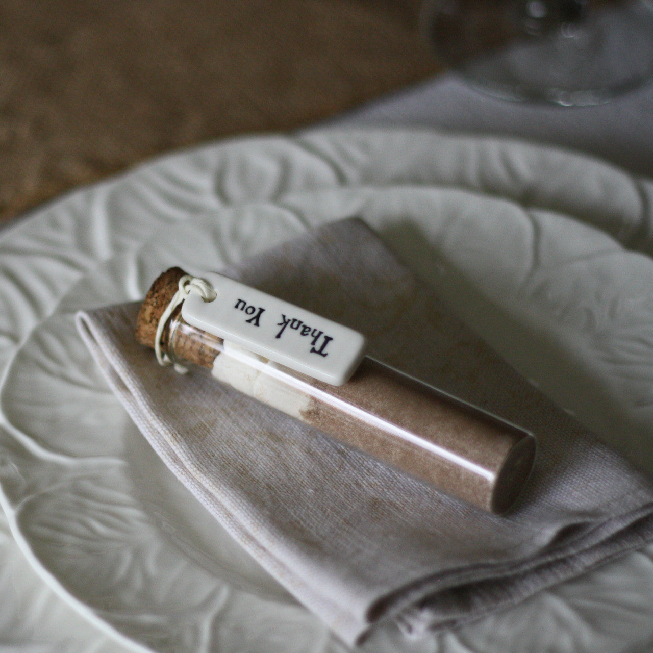 Real Weddings Cork: Test Tube Wedding Favour With Cork Stopper