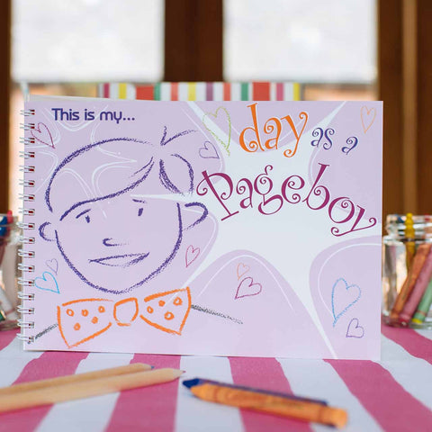 My Day as a Pageboy Keepsake Activity Book