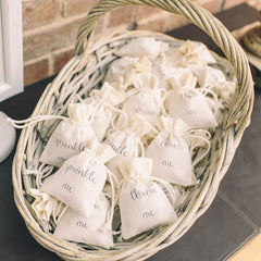 throw me wedding confetti bags