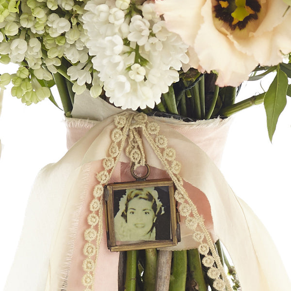 Tiny Photo Frame Locket For Wedding Bouquet