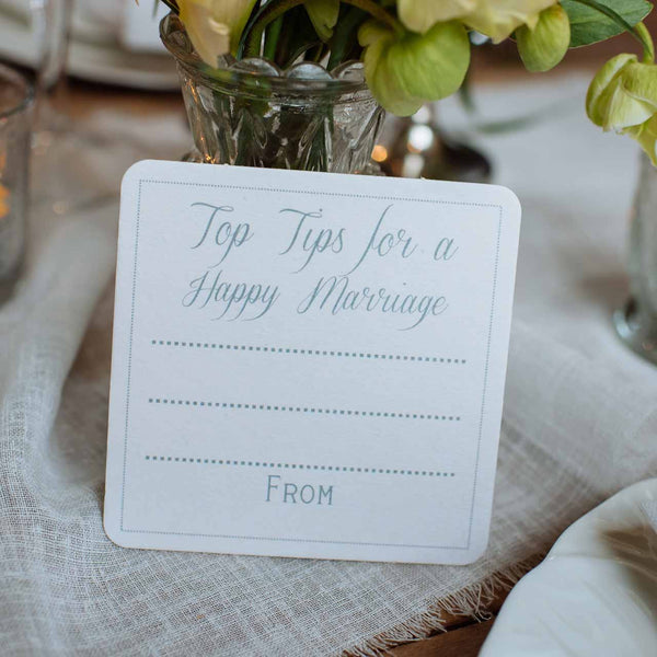 Top Tips For A Happy Marriage Elegant - Set Of 10