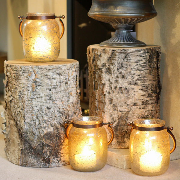 Faux Birch Bark Tree Stumps For Rustic Christmas Home Styling available from @theweddingomd The Wedding of my Dreams