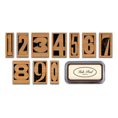 Cavallini & Co number stamps for wedding table numbers