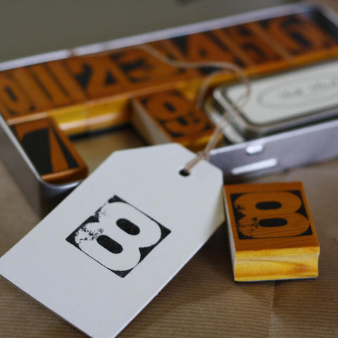 Number Stamps and Ink Pad