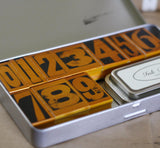 wooden rubber stamps numbers