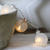 White and Bronze Bauble Light String