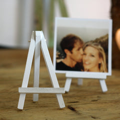 Mini White Wooden Easel wedding