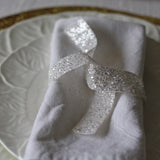 White Glitter Ribbon