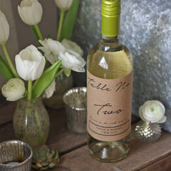 Wine Bottle Wedding Table Numbers Personalised