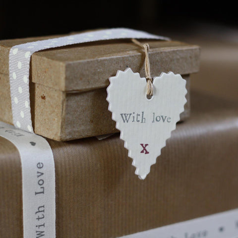 Heart Gift Tag With Love