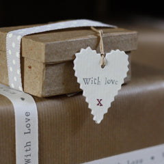gift tags heart with love