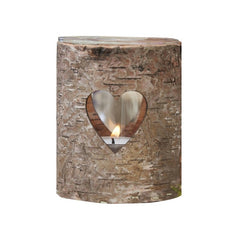 Rustic Bark Tea Light Holder - Set Of 3