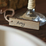 rustic wedding name place cards