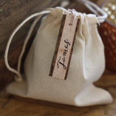 Rustic wooden gift tags - available from The Wedding of my Dreams