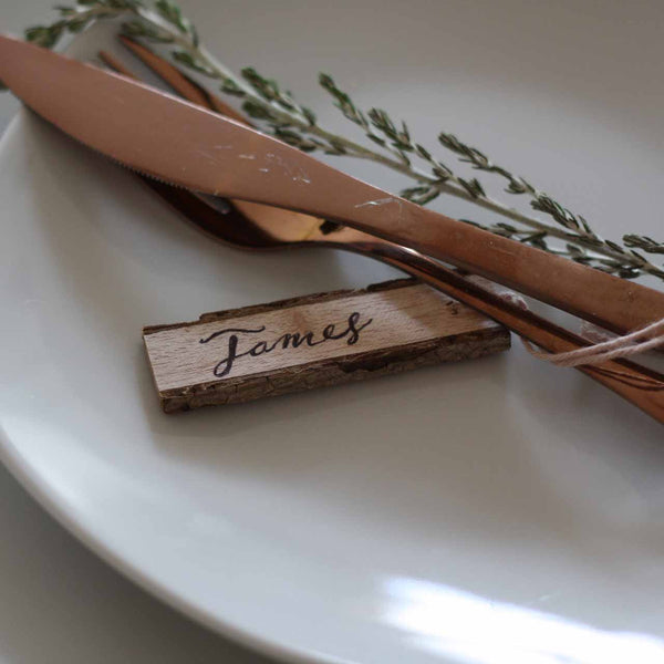 Rustic place cards wooden - available from The Wedding of my Dreams