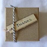 Wooden Gift Tags Rustic - Thanks
