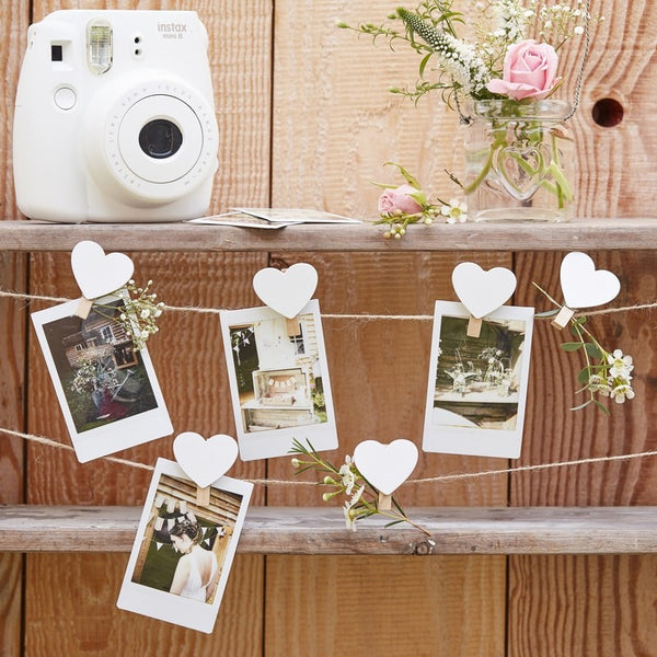 Wooden Heart Pegs & Twine