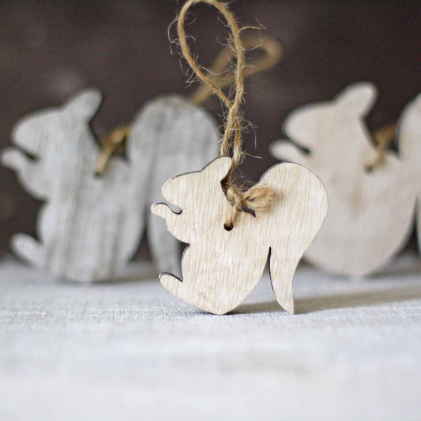 Wooden Squirrel Hanging Christmas Tree Decorations