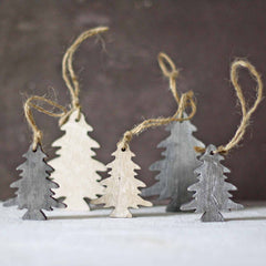 Wooden Trees Hanging Christmas Tree Decorations
