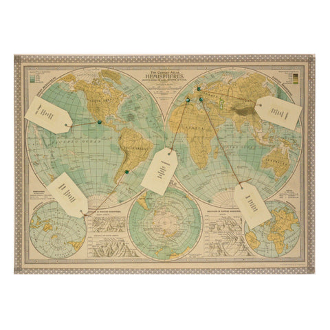 World Hemisphere Map Table Plan