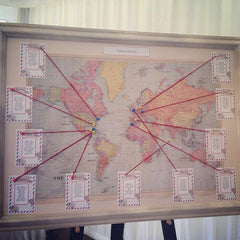 world map wedding table plan
