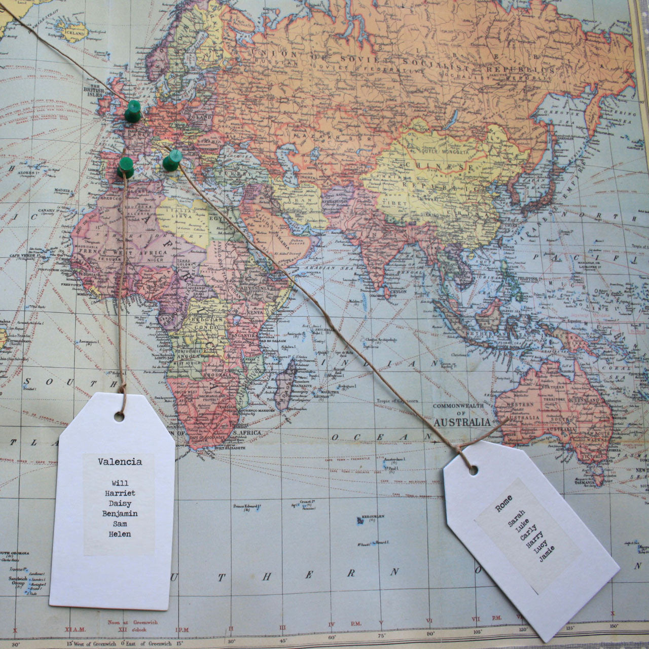 World map wedding table plan the wedding of my dreams publicscrutiny Image collections