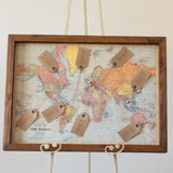World Map Print Wedding Table Plan