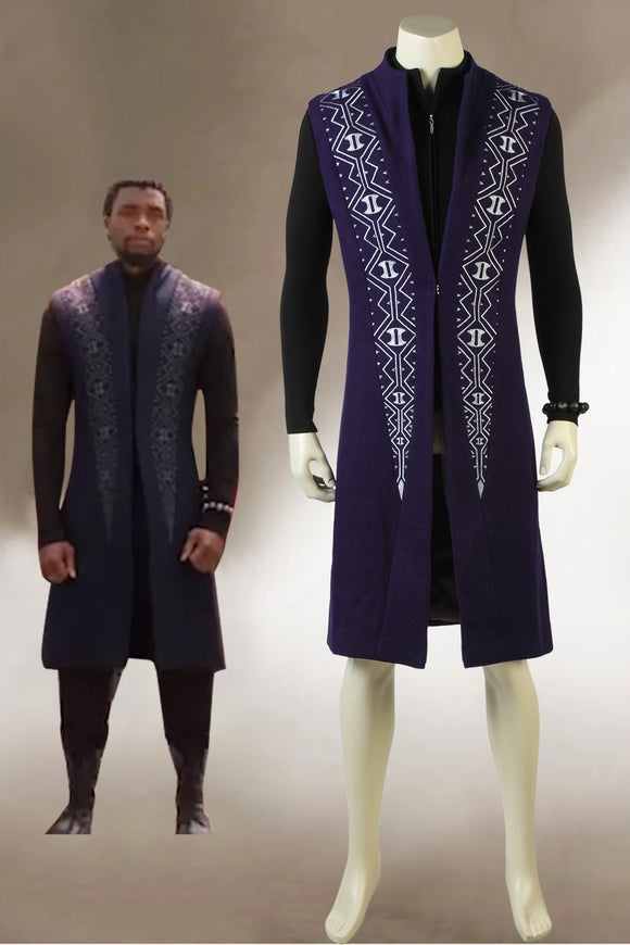 2018 Avengers 3: Infinity War Black Panther T'Challa AAACosplay Costume Chadwick Boseman