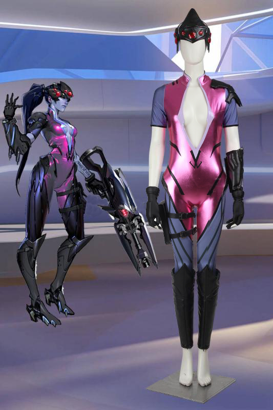 Game Overwatch OW Widowmaker Amelie Lacroix Cosplay Costume