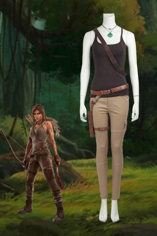 Tomb Raider Season 9 Lara Croft Outfits Cosplay Costume