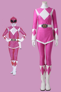 Mighty Morphin Power Rangers Mei Ptera Ranger Cosplay Costume With Boots