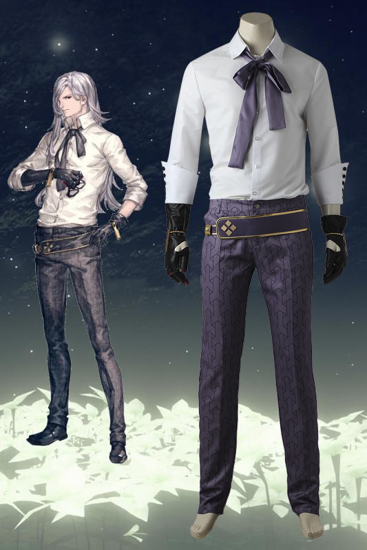 NieR Automata Adam Cosplay Costume White Suit Halloween Carnival Outfit