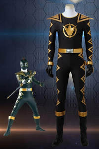 Power Rangers Dino Thunder AbareBlack Tommy Cosplay Costume