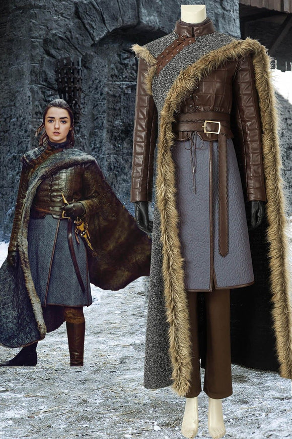 [In Stock]Game Of Thrones Season 8 Arya Stark Cosplay Costume(No Boots)
