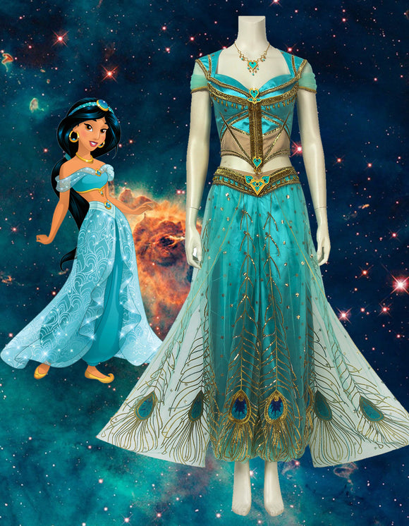 2019 Movie Aladdin Princess Jasmine Cosplay Costume
