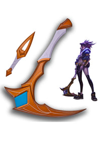 League Of Legends LOL KDA Akali Scythe Sickle And Dagger Cosplay Props
