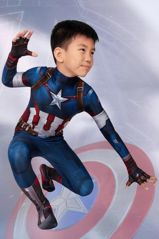Avengers: Age Of Ultron Captain America Steve Rogers Jumpsuit For Kids