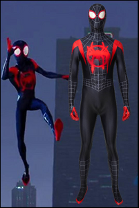 New Spiderman: Into The Spider-Verse Miles Morales Jumpsuit Cosplay Costume