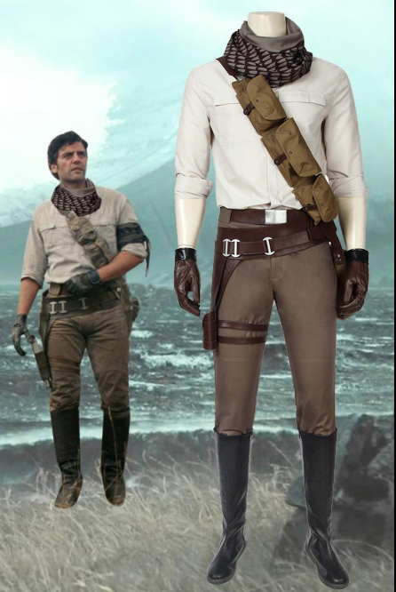 Star Wars: The Rise Of Skywalker Poe Dameron Cosplay Costume
